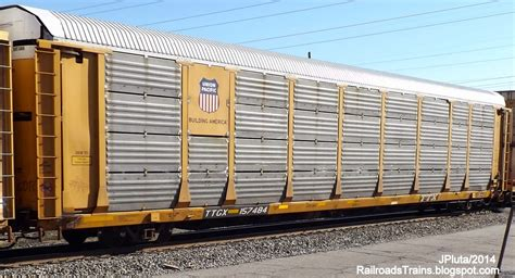 Auto Rack by Railroad Freight Locomotive Engine Emd Ge Boxcar Bnsf Csx Fec Norfolk Southern Up Cn Cp