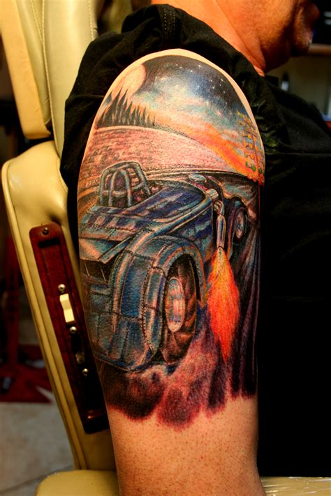 bad tattoo hot rod dragster tattoo octattoogabe