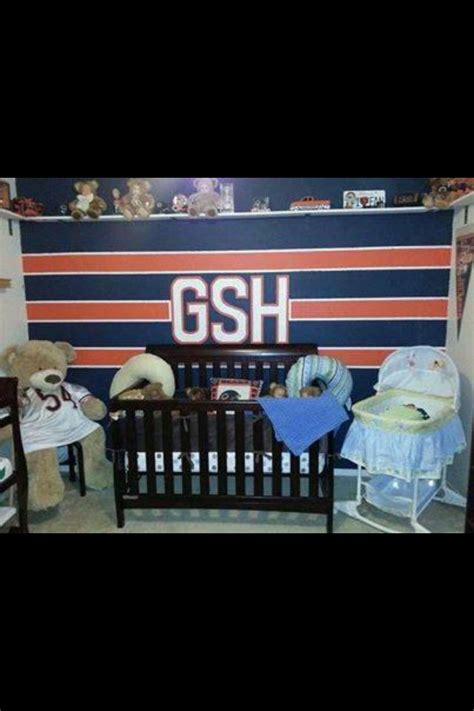 chicago bears home decor baby s chicago bears room home decor pinterest