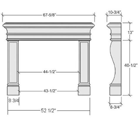 Fireplace Hearth Size by Average Fireplace Dimensions Learn Fireplaces