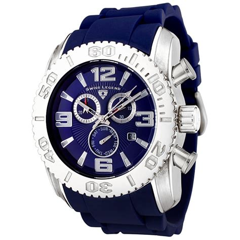 swiss legend men s commander chronograph blue blue