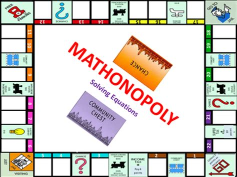 printable math board games for high school mathonopoly level 5 to 7 general revision resources tes