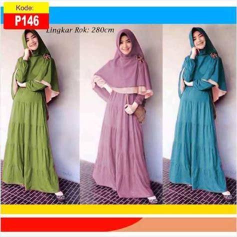 Karin Maxi Maxy Muslim Gamis detail produk untuk baju gamis muslim syar i karin bergo