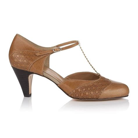 bessie leather t bar shoes by agnes norman