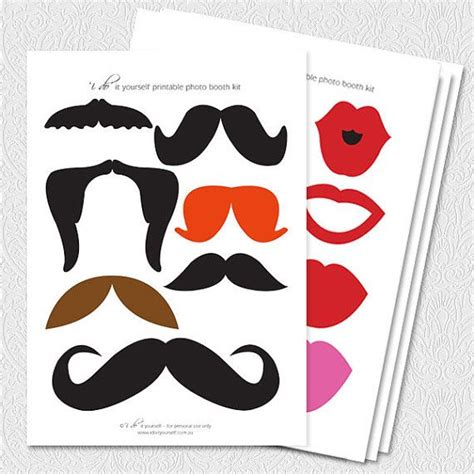 26 printable photo booth props moustache 26 printable photo booth props printable file