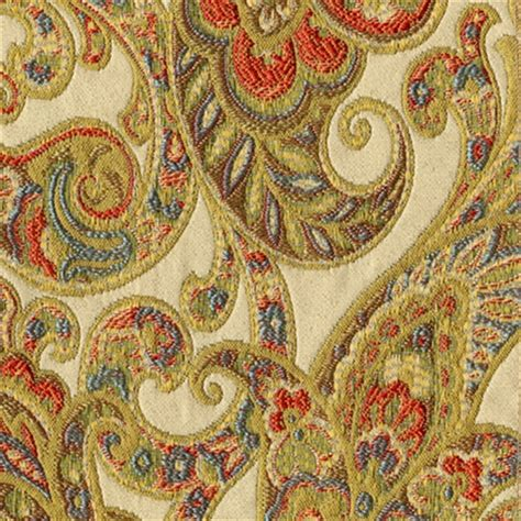 Fabrics And Upholstery by Grand Paisley Gold Jacquard Paisley Upholstery Fabric 30410