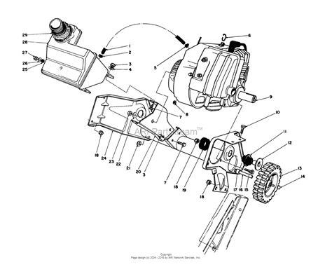 toro ccr 2000 parts diagram toro 38180 ccr 2000 snowthrower 1986 sn 6000001 6999999