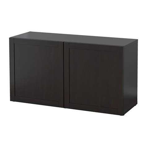 besta shelf unit with doors best 197 shelf unit with doors hanviken black brown 120x40x64 cm ikea