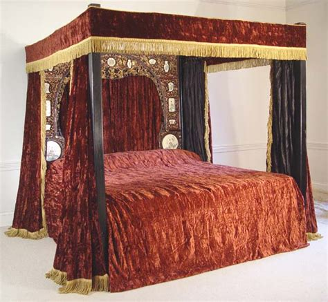 poster bed canopy curtains red four poster bed furniture i love pinterest
