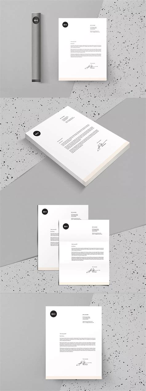 letterhead template indesign indd letter size
