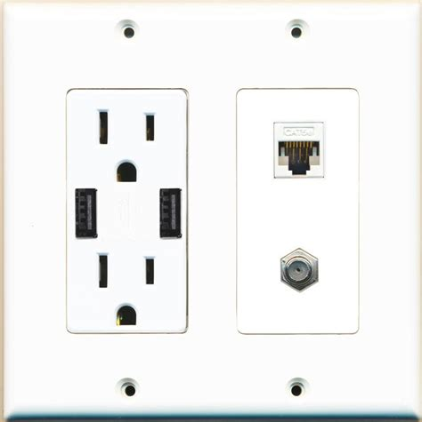 With Outlets by Riteav 15 125v Power Outlet 2 Usb Charger Receptacle