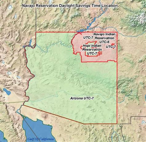 us time zone map arizona map of arizona time zones my