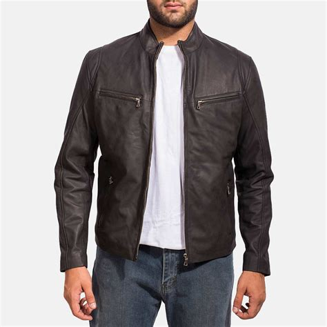 jacket for mens ionic black leather jacket