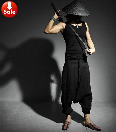 fit harem new japanese samurai style boho casual low drop