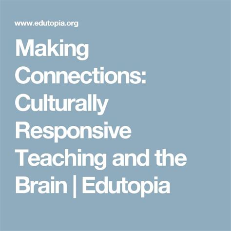 culturally responsive teaching and the brain promoting authentic engagement and rigor among culturally and linguistically diverse students 85 best images about for education on