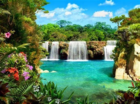 wallpaper lukisan cantik kumpulan gambar air terjun tercantik di dunia wallpaper