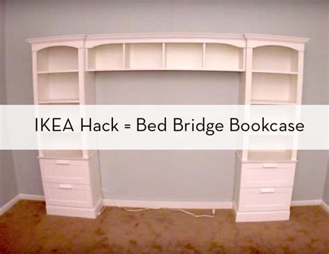 bookcase headboard ikea how to build a quot bed bridge quot bookcase using ikea bookcases