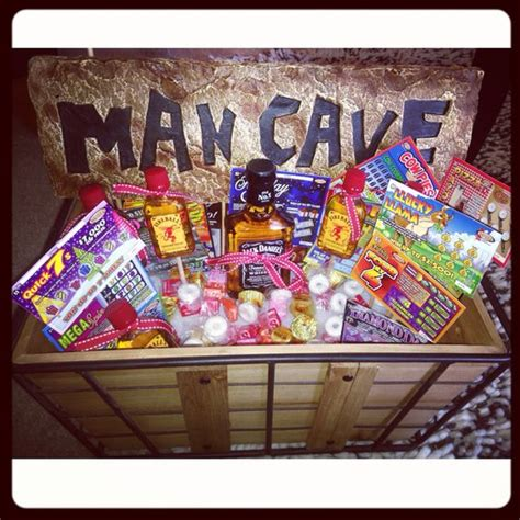 man cave gift ideas the man basket complete with fireball shooters a 1 5 of