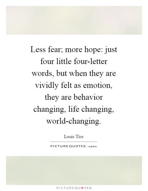 4 Letter Words Depicting Emotions less fear more just four four letter words