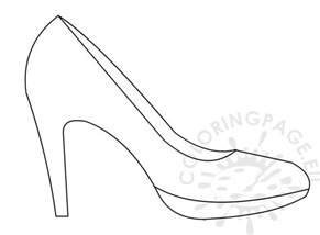 High Heel Template by High Heel Shoe Template Coloring Page