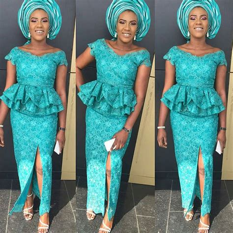 latest nigerian styles with cod lace aso ebi styles with cord lace
