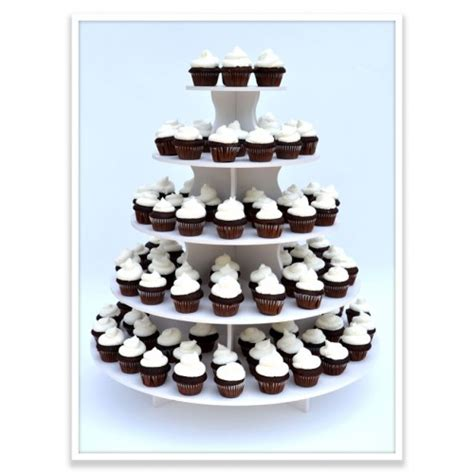 Cupcake Tier reusable 5 tier cupcake tower 4 stands in 1 holds up to 90 cupcakes