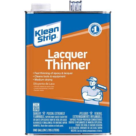home depot paint thinner klean 1 gal lacquer thinner gml170 the home depot