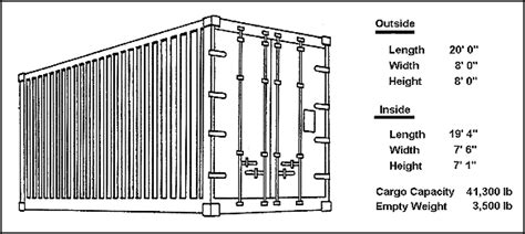 tainer 20 foot shipping container inside dimensions