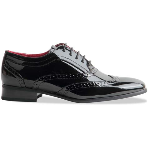 gangster shoes mens spectator two tone black wingtip brogue