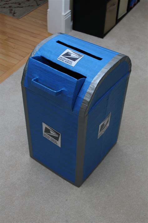 How To Make A Post Box Out Of Paper - project completed mailbox made from