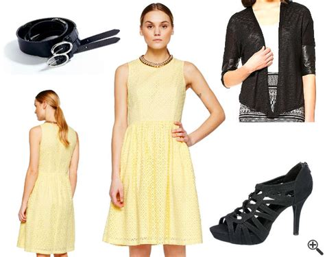 schoene kleider fuer hochzeitsgaeste das sommerliche gelbe outfit