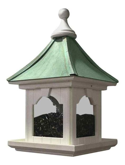 copper roof bird feeder large capacity hanging