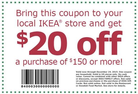 ikea coupons special offers 2015 retailmenot 20 off 150 ikea coupon