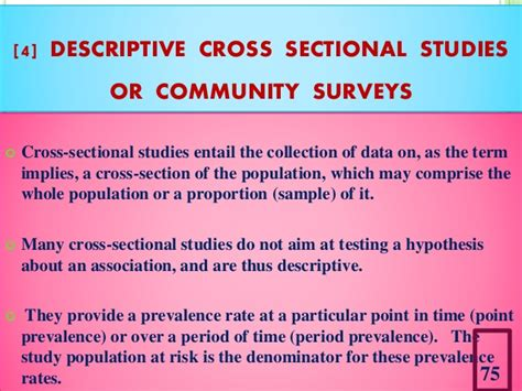 Descriptive Cross Sectional Study by Study Designs In Research Methodology