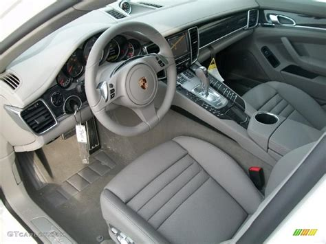 platinum grey interior 2011 porsche panamera 4s photo