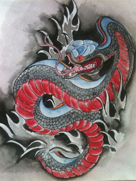 42 japanese snake tattoos collection