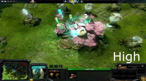 Dota 2 Graphic 2 dota2 low vs high graphics comparison