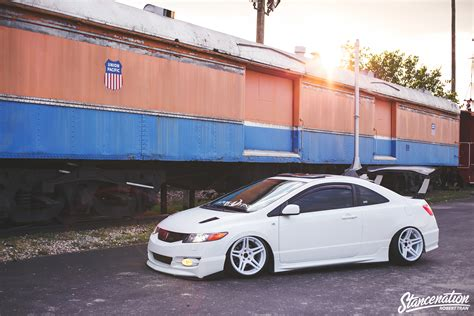 stancenation honda civic si straight flexin stevie phamo s 2006 honda civic