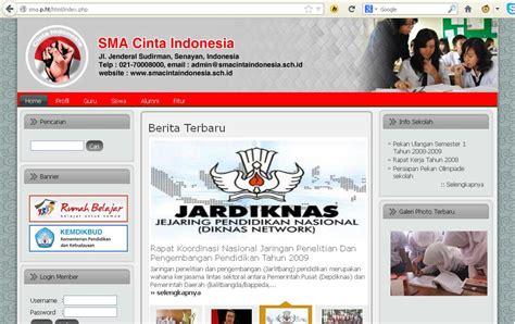 latar belakang membuat website sekolah cara membuat web sekolah dengan cms balitbang semuanya ada