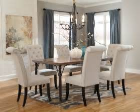 Dining Room Table With 6 Chairs Tripton Rectangular Dining Room Table 6 Uph Side Chairs D530 01 6 25 Dining Room Groups