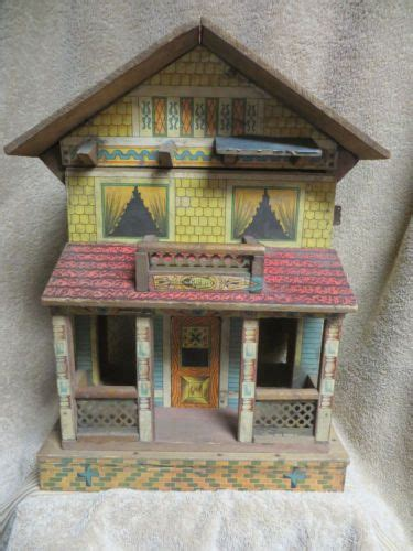girl house 2 antique bliss doll house 2 storey with porch paper litho