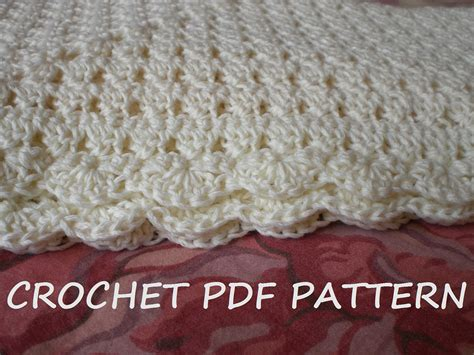 pattern crochet baby blanket crochet baby blanket pattern pdf 020 by vivartshop on etsy