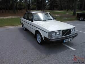 Volvo 242 Turbo 1984 Volvo 242 Glt Turbo Coupe Original White