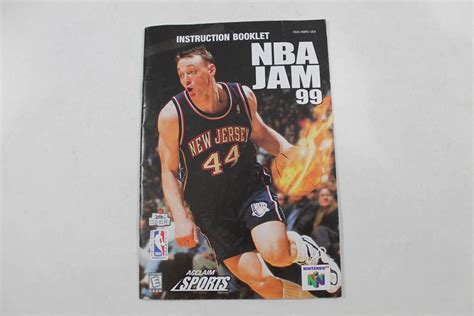 Mba Jam 3ds by Manual Nba Jam 99 Nintendo N64