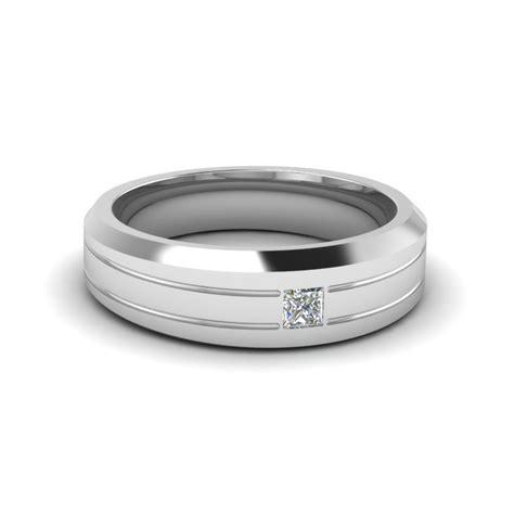 bezel princess mens band fascinating diamonds
