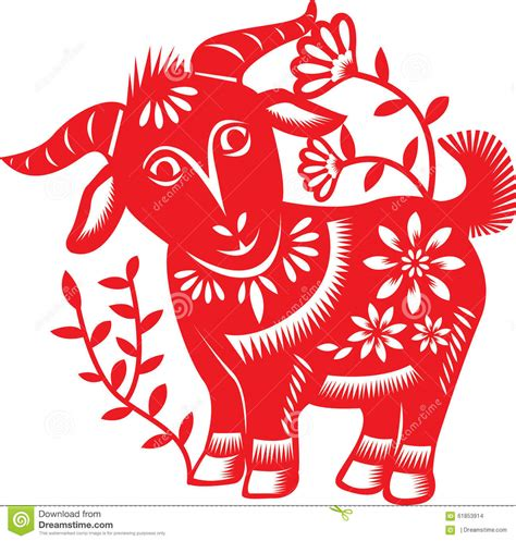 chinese zodiac goat stock vector illustration of