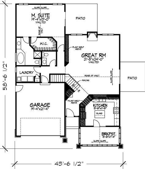 genesta contemporary berm home plan 072d 1088 house traditional house plan first floor 072d 0113 house plans