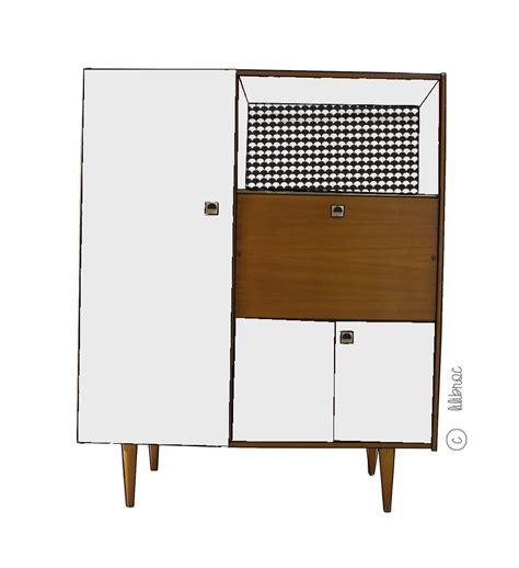 secr 233 taire armoire vintage quot eug 232 ne quot croquis de relooking
