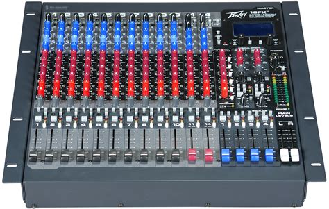 Mixer Equalizer Peavey 16fx 2 Stereo Channel Mixer With Mid Frequency Sweepable 3 Band Equalizer Pev13 512400