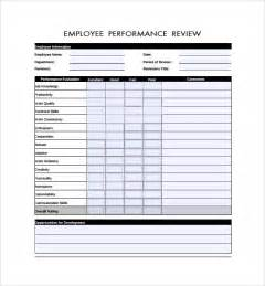 review templates employee review forms 8 free documents in pdf